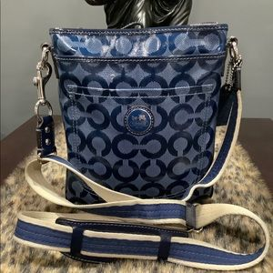 COACH COATED CANVAS CROSSBODY